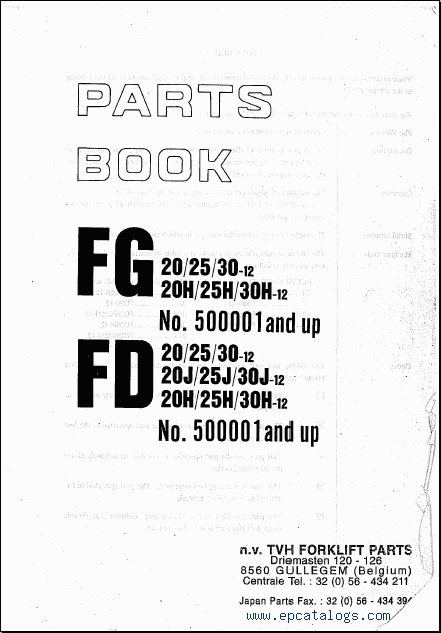 Komatsu Forklift, repair manual, Forklift Trucks + Manuals