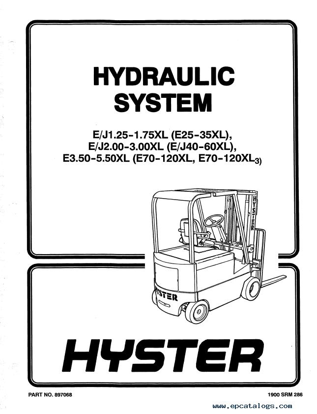 Hyster Class 1 C098 E80-120XL3 E100XL3S Rider Trucks PDF