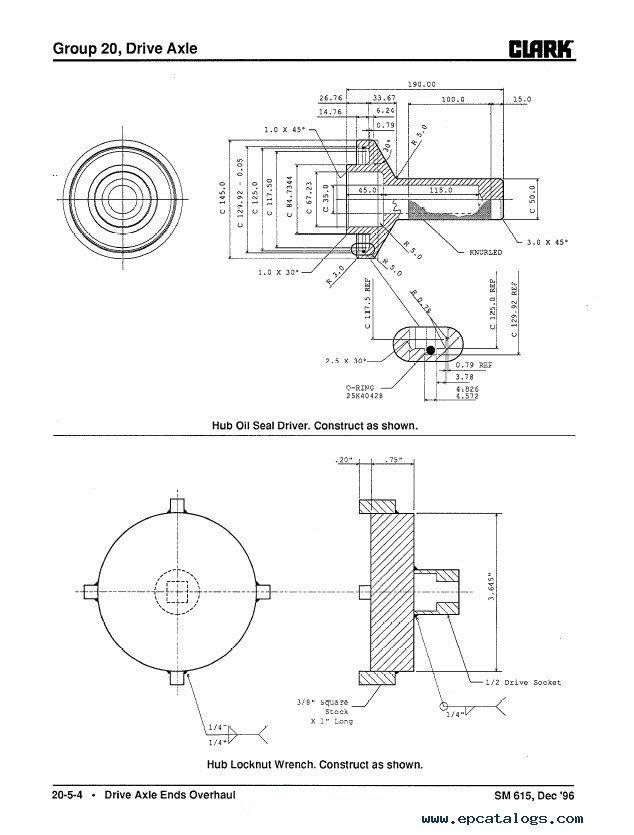 Clark ECG 20-32 SM615 Service Manual PDF