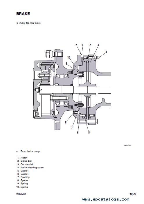 Komatsu Backhoe Loader WB98A-2 Shop Manual Download
