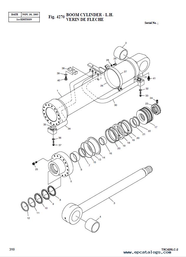 Terex TXС 420LC-2 Heavy Excavator Parts Manual PDF Download