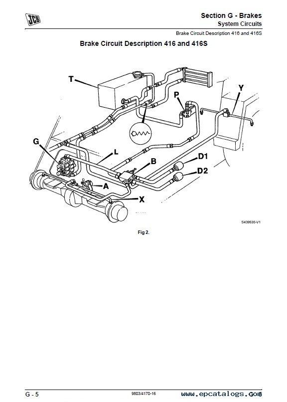 Download JCB Wheeled Loading Shovel 412S 414S 416S PDF