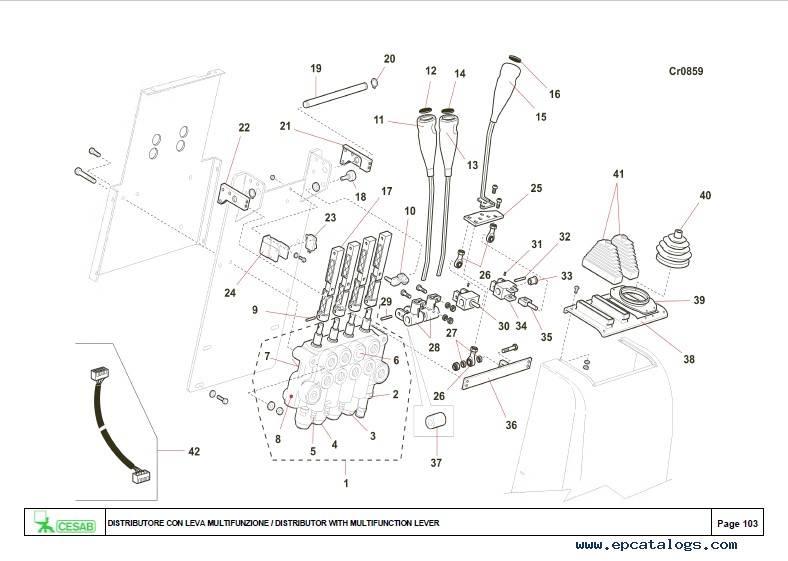 Download Cesab Forklifts Blitz 415 Spare Parts Catalog PDF