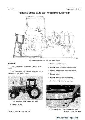 John Deere 4640 & 4840 Tractors TM1183 PDF Manual