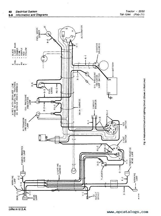 john deere 2020 tractor wiring diagram  center wiring