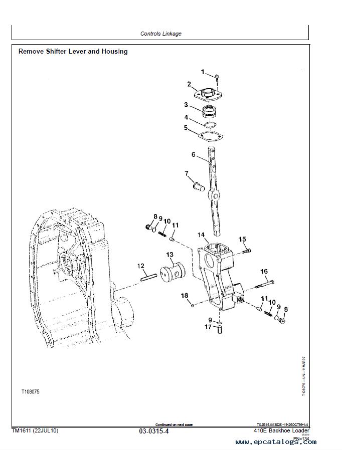 John Deere 410E Backhoe Loader Technical Manual PDF