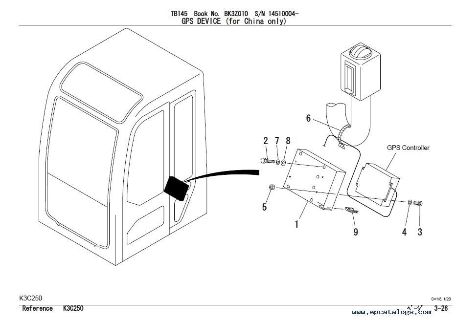 Takeuchi TB145 Excavator Parts Manual PDF Download