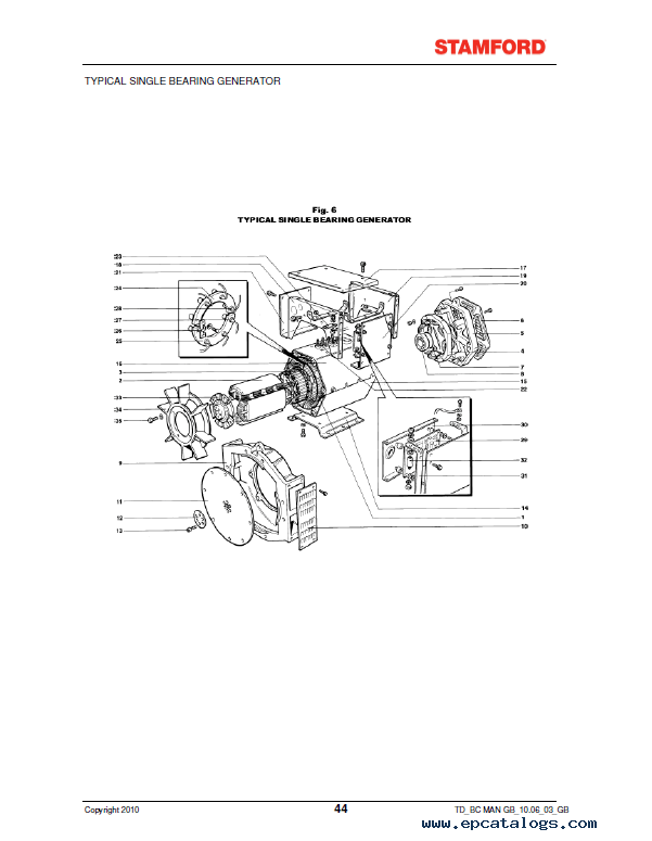 JCB Installation Service Maintenance Manual Stamford BC