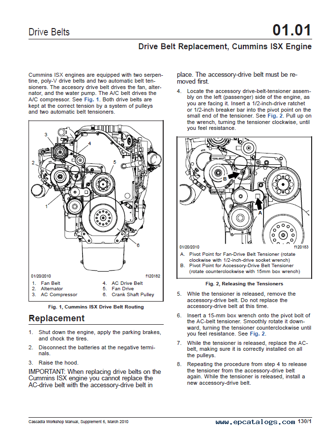 Cascadia trucks CA125DC, CA125SLP Workshop Manual PDF