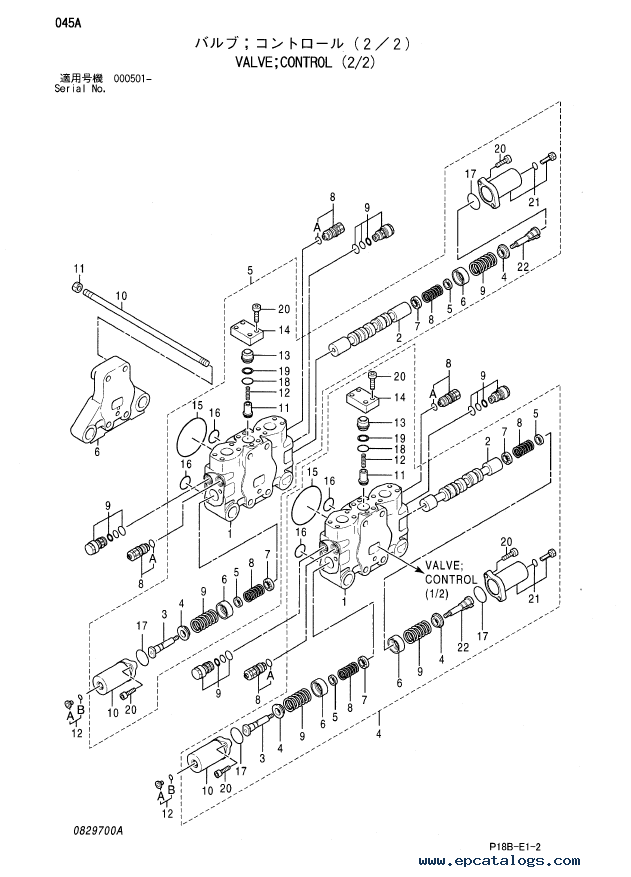 Hitachi EX5500-5 Equipment Component Parts P18B-E1-2 PDF