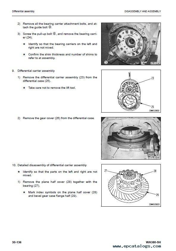 Komatsu WA380-3 WA380-5H WA380-6 WA380-6H PDF