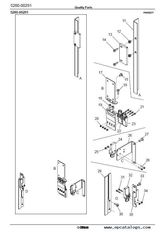 Download Cesab Reachtrucks R320 Quality Parts Manual PDF