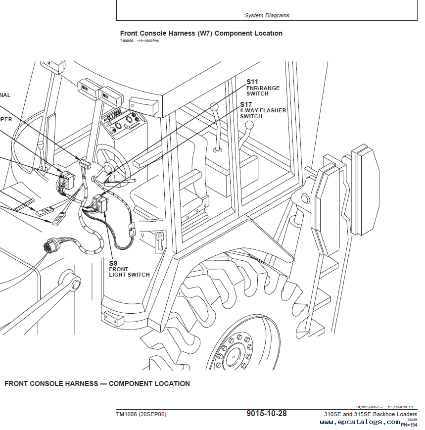 John Deere backhoe loaders 310SE/315SE Technical Manual