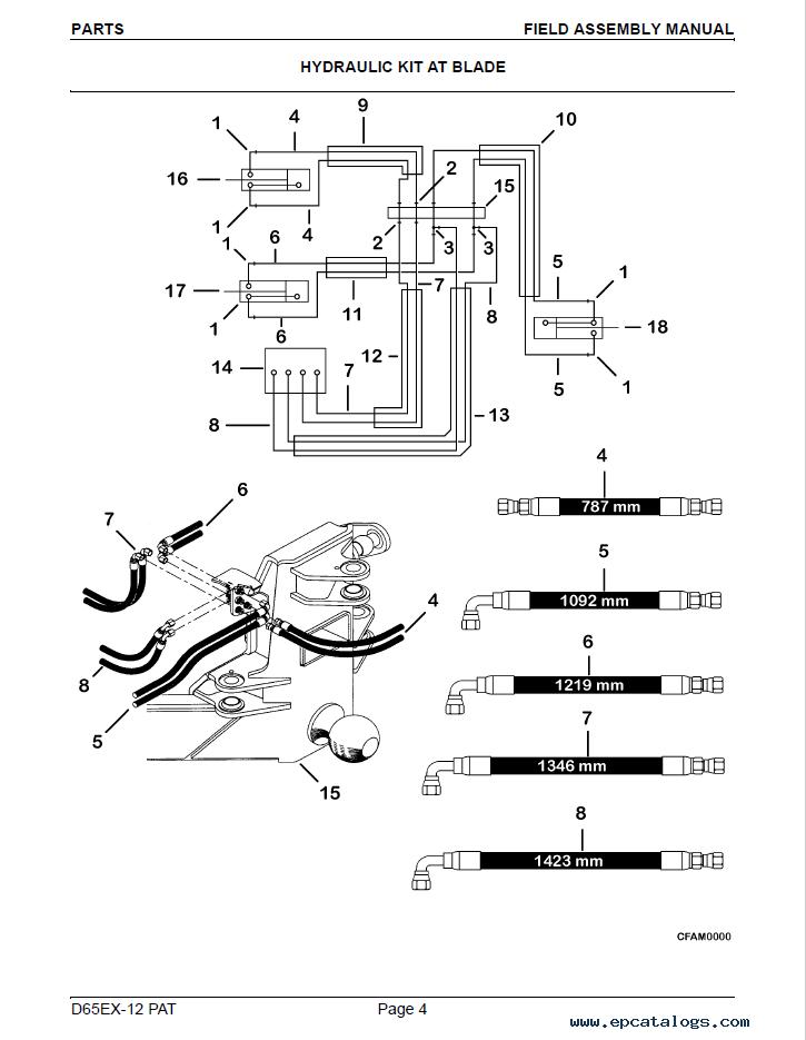 Komatsu D65EX-12 PAT Crawler Dozer Manual PDF