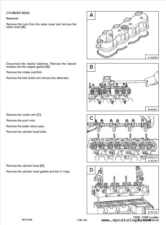 Bobcat 742B, 743B Skid Steer Loaders Service Manual PDF