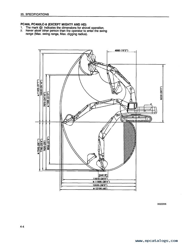 Komatsu Excavator PC400/LC-5/Mighty, PC400HD-5 PDF