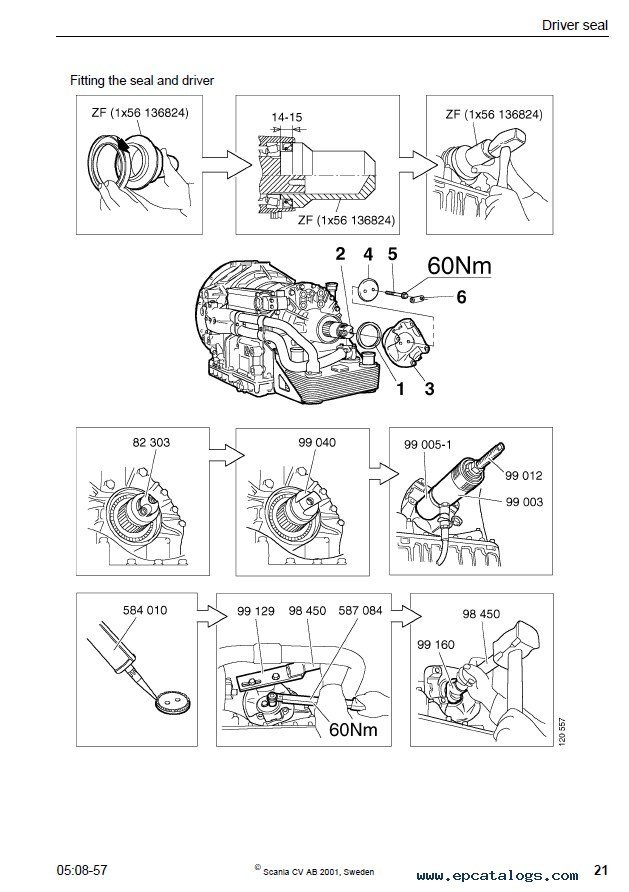 Zf 4hp22 6hp26 5hp19 5hp24 5hp30 Transmission Service Manual