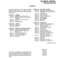 John Deere 2750 Alternator Wiring Diagram Bmw E46 Trunk Tractor Tm4405 Technical Manual Pdf Repair 1