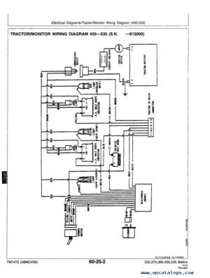 John Deere 335 375 385 435 535 Round Balers PDF Manual