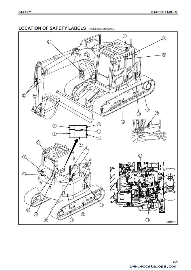 Komatsu Hydraulic Excavator PC138USLC-10 Manual PDF