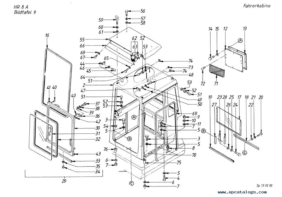 Terex HR 8 Serie A Crawler Excavator Download Parts