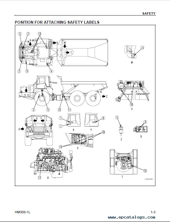 Komatsu HM300-1L Articulated Dump Truck Manual PDF