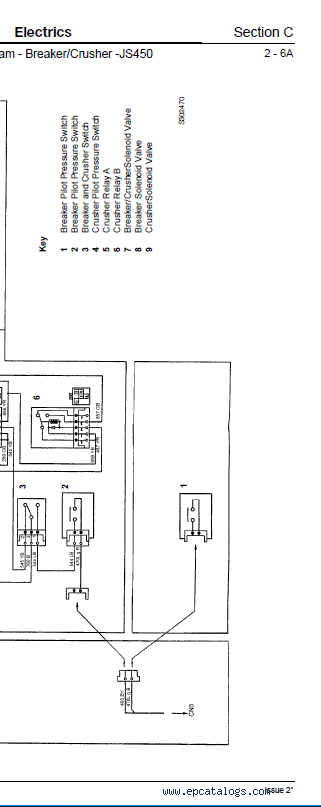 JCB Tracked Excavator JS330 JS450 JS460 JS500 Service