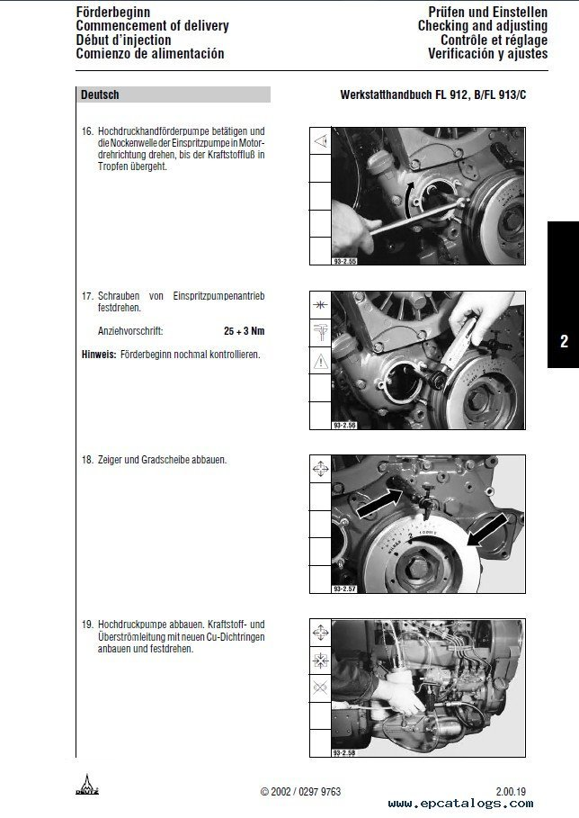 Deutz Engines 912-913 Workshop Manual PDF