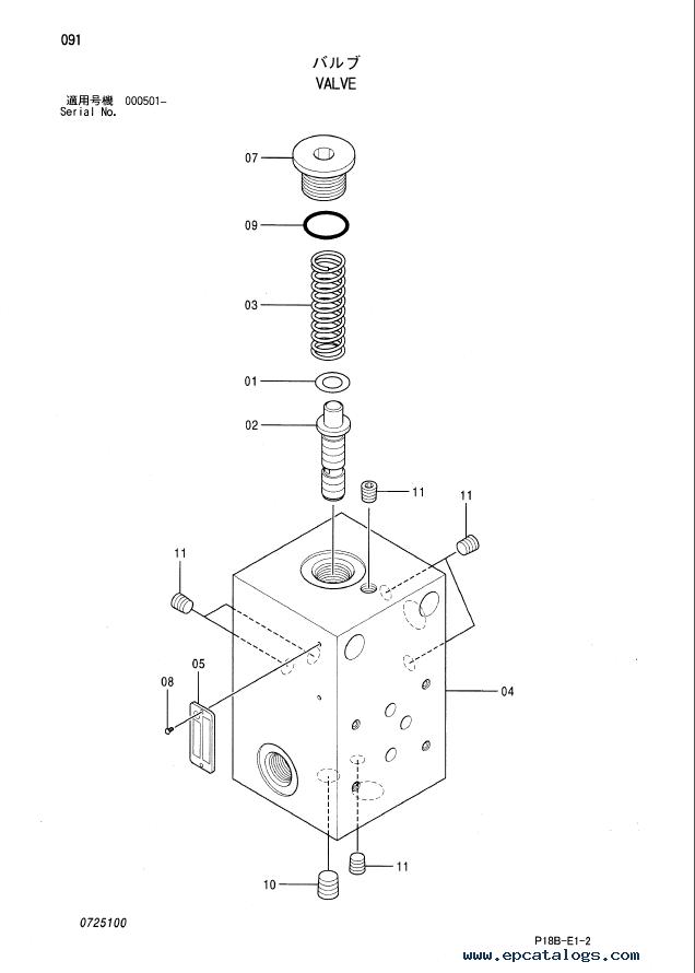 Hitachi EX5500-5 Equipment Component Parts P18B-E1-2 PDF