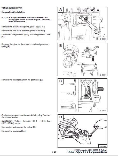 Bobcat X 220 Excavator Service Manuals PDF