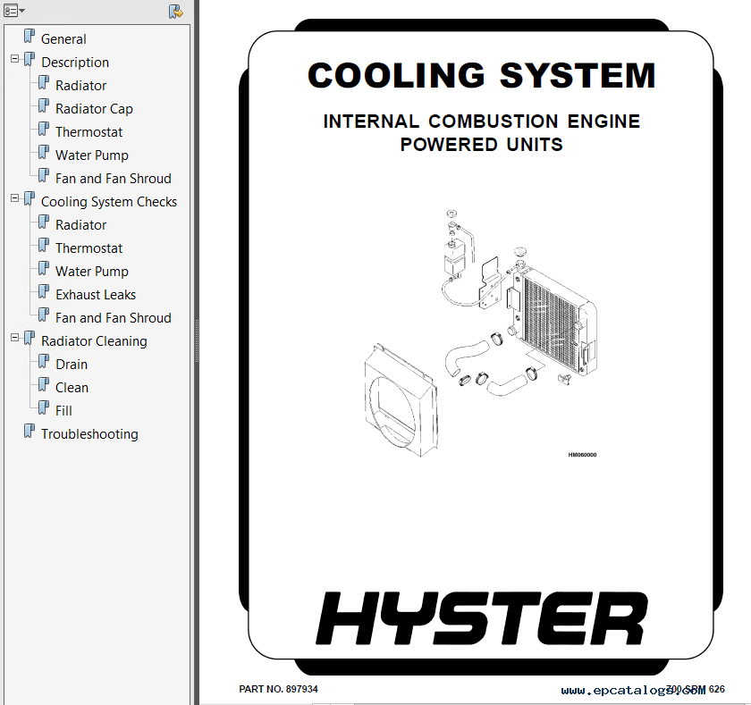 Hyster Class 4 D002 Trucks Cushion Tire PDF Manual