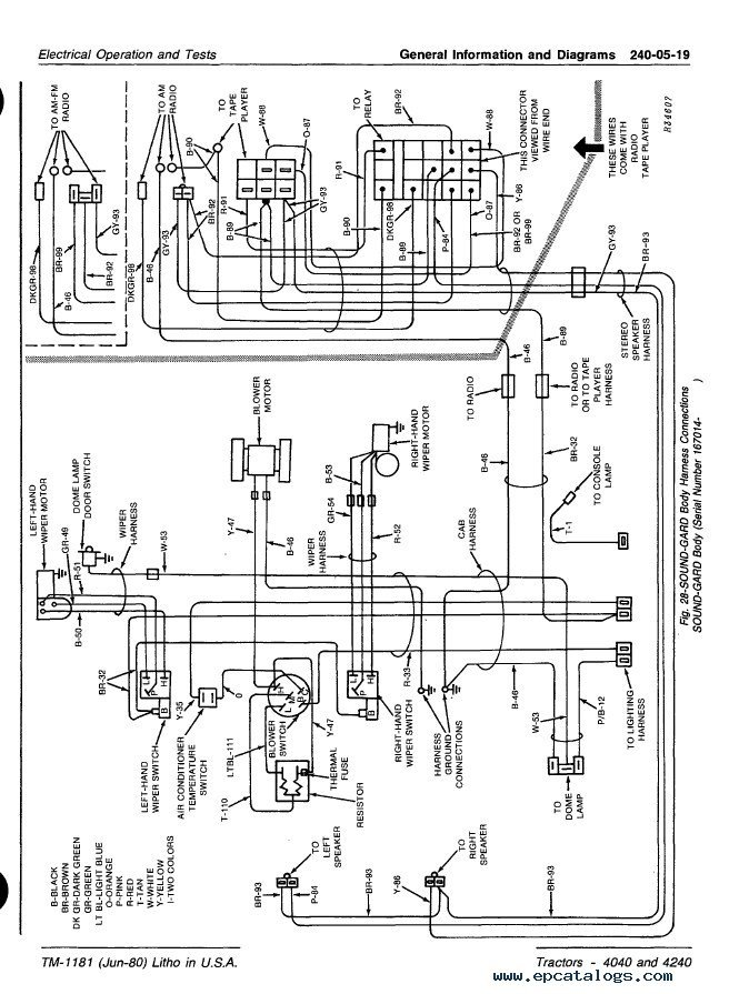 john deere 4240 wiring diagram auto electrical wiring ignition circuit diagram