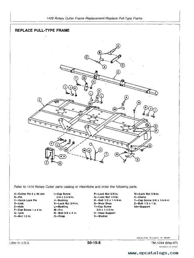 John Deere 3.6, 8 & 9 Series Rotary Cutters TM1394 PDF