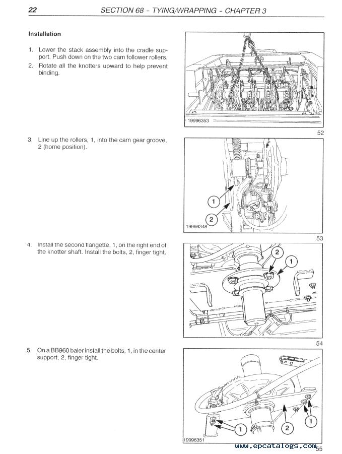 New Holland Big Balers BB940/BB960 Download PDF Repair Manual
