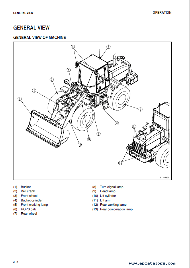 Komatsu WA250PZ-6 Wheel Loader Manual PDF Download