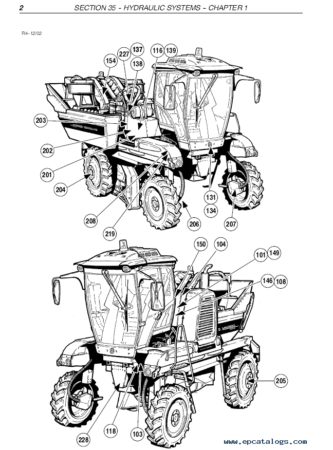 New Holland VN260 and VN240 Grape harvester PDF Service Manual