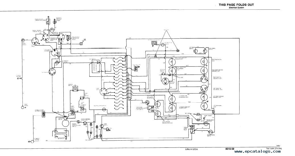 Backhoe Hydraulic System Diagram Con Hydraulic System