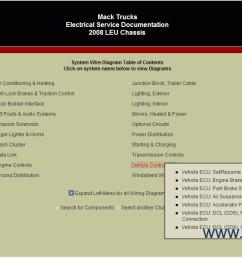 mack trucks electrical service documentation 4 [ 1276 x 631 Pixel ]