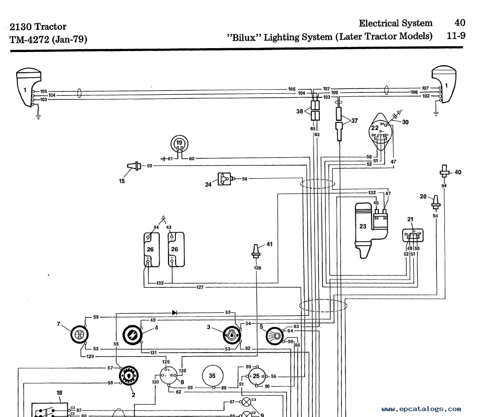 John Deere Tractor 2130 TM-4272 Technical Manual PDF