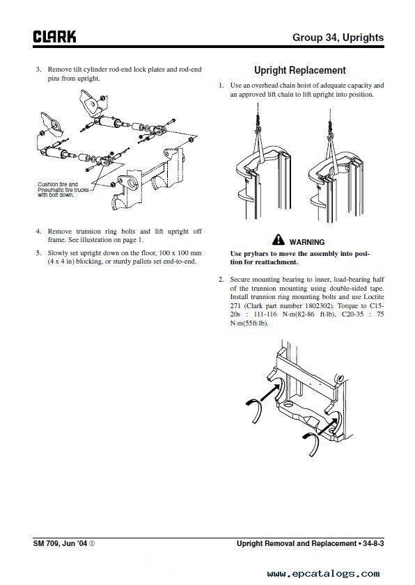 Clark C15-35 D/L/G & C15-32C L/G SM709 PDF Manual