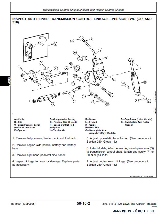 john deere 316 wiring diagram pdf split phase motor 2 tractor diagrams www toyskids co 318 420 lawn garden tractors tm1590 4110