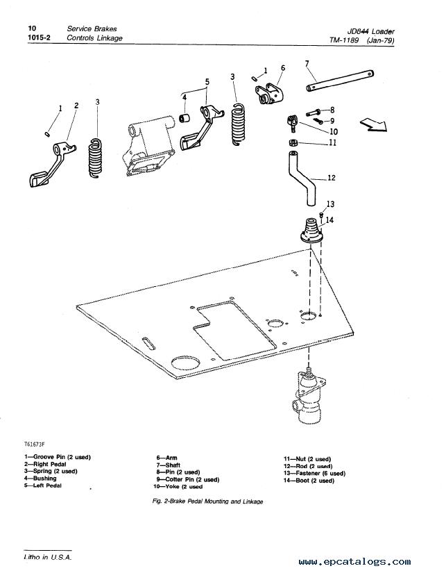 John Deere JD844 Loader TM1189 Technical Manual PDF