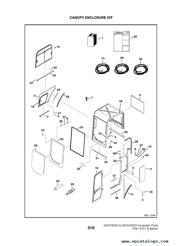 Bobcat 320, 322 D-G-Series Excavators Parts Manual PDF