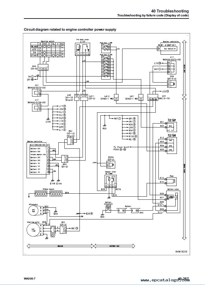 air conditioner wiring diagram pdf 2007 ford ranger stereo komatsu wheel loader wa500-7 shop manual
