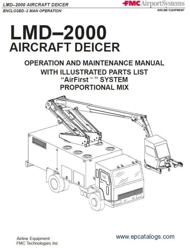FMC LMD-2000 Aircraft Deicer Spare Parts Catalog Download