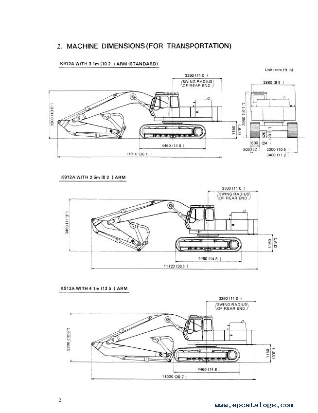 Kobelco K912A & K912ALC Hydraulic Excavator PDF Service Manual