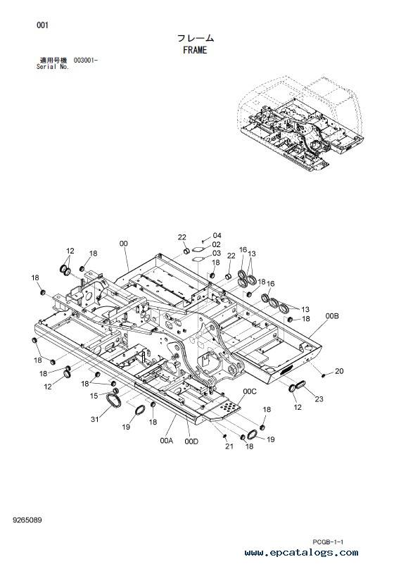 Hitachi Wheeled Excavator Zaxis 170W-3 Parts Catalog PDF