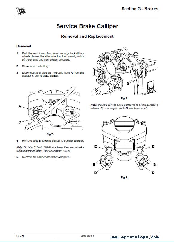 Download JCB Compact Loadall 520-40 524-50 527-55 SM PDF