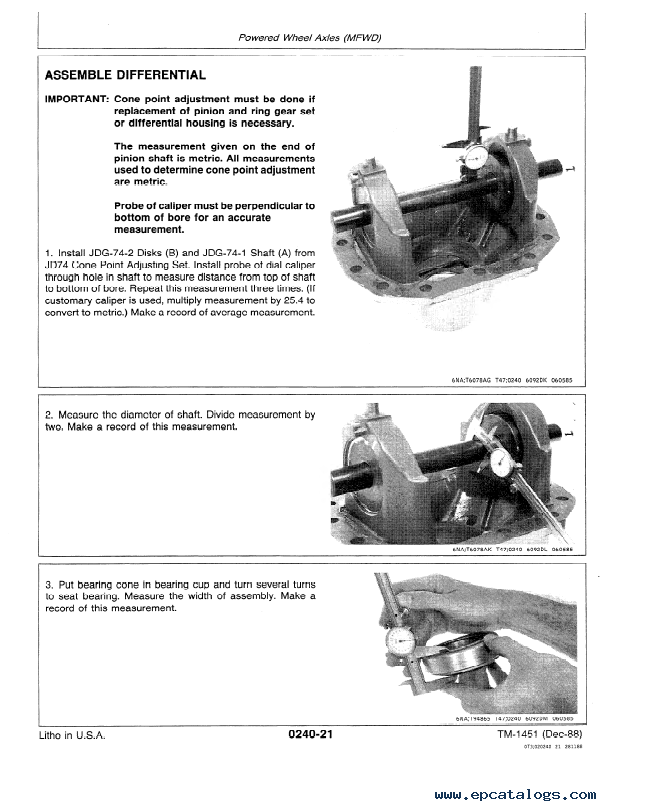 John Deere 710C Backhoe Loader Repair TM1451 PDF