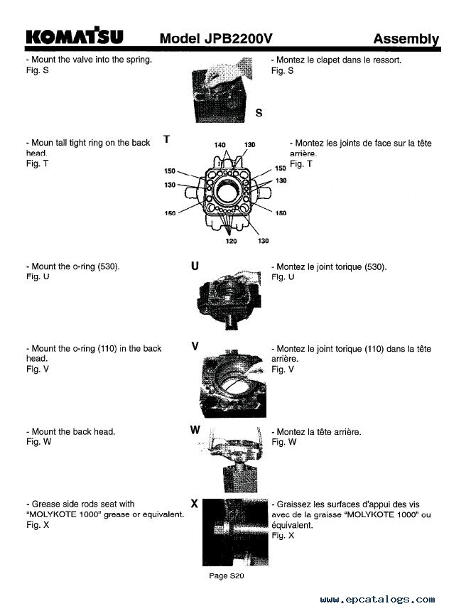 Komatsu Hydraulic Breaker JPB2200V Set of PDF Manuals